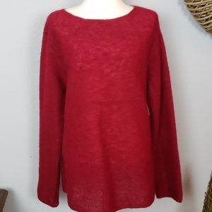 Eileen Fisher cranberry red sweater m